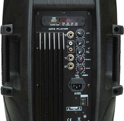 hordozható hangfal mikrofonnal